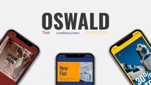 3 parejas tipográficas con la fuente Oswald