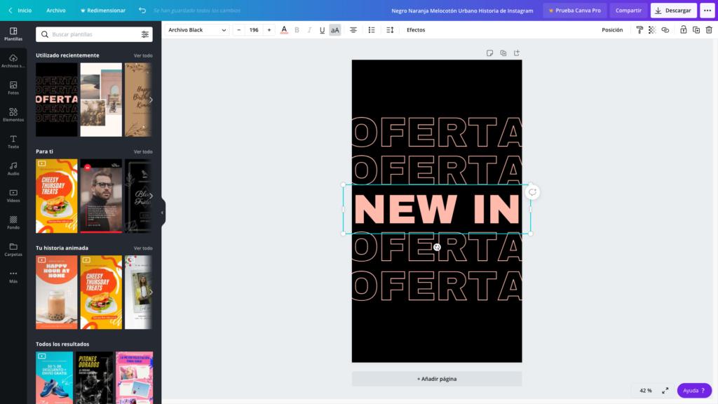 Crea un diseño en blanco o edita una plantilla de Canva