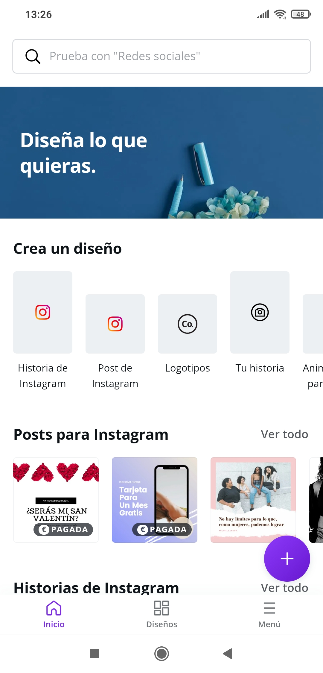 Stories for Instagram in Canva