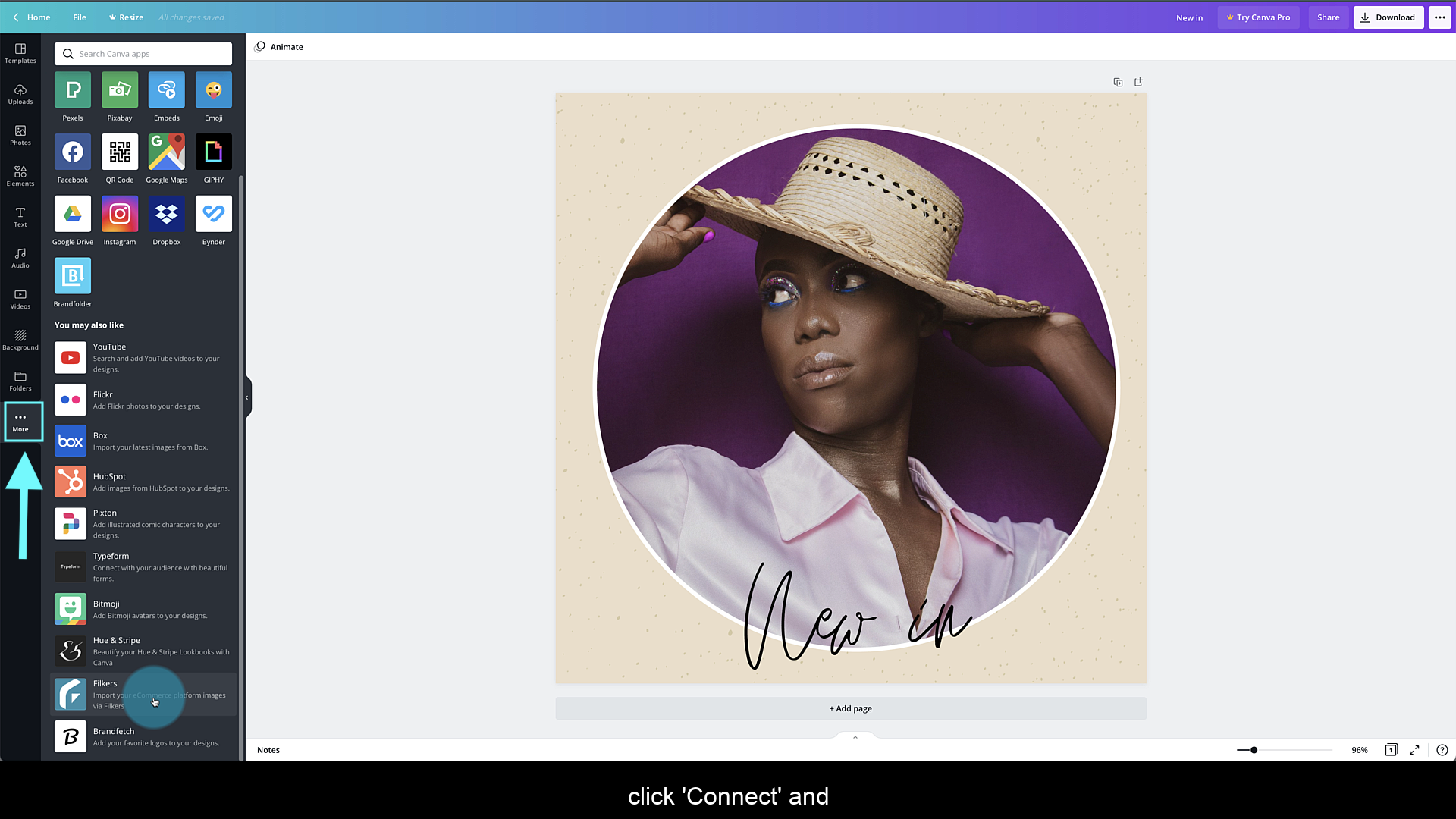 Connect Canva with Filkers: Find the Filkers app